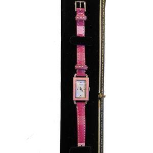 Coach 🧳VINTAGE🐎Swiss Quartz Leather silver Watch